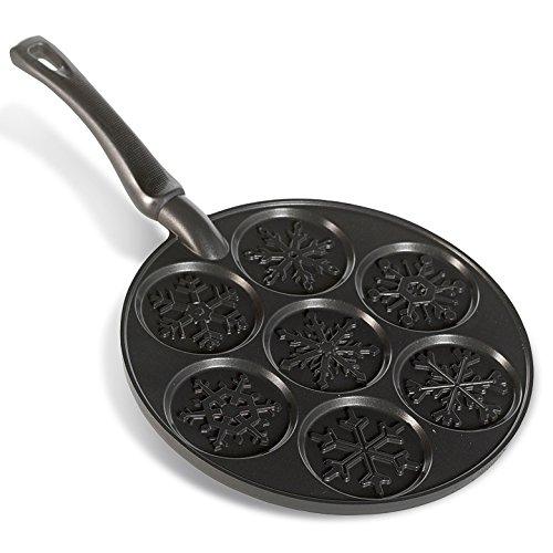 Nordic Ware Snowflake Pancake Pan Black