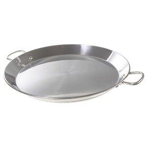 Garcima 16-inch Stainless Flat Bottom Paella Pan 40cm