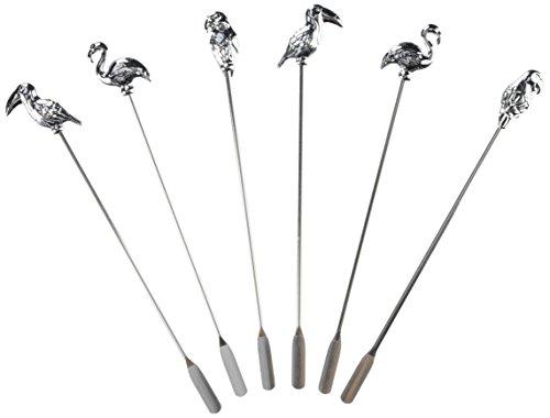 Prodyne Bar Birds Swizzle Sticks Set of 6