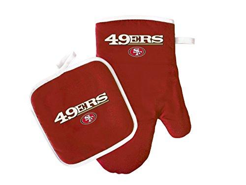 NFL San Francisco 49ers Logo Oven Mitt Pot Holder One Size Red