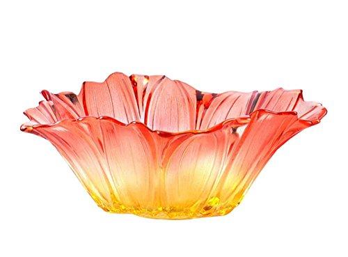 Flower Shape Useful Home Tabletop Fruits ServerTrayPlates Vegetable Bowl-Red