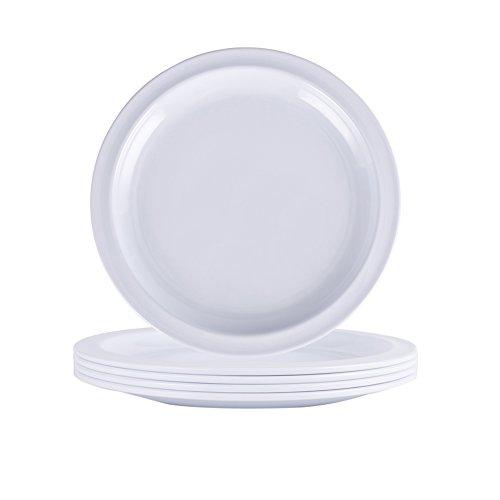 Melamine Dessert Plate Set - Hware 7 Inch Set of 4Salad and fruit platewhite