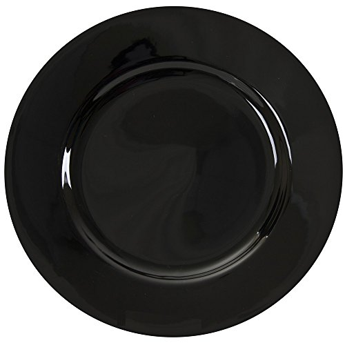 10 Strawberry Street Black Rim 1225 ChargerBuffet Plate Set of 6 Black