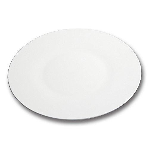 10 Strawberry Street IZABEL LAM Bone China - Pond Round Rim 12 ChargerBuffet Plate Set of 2 White