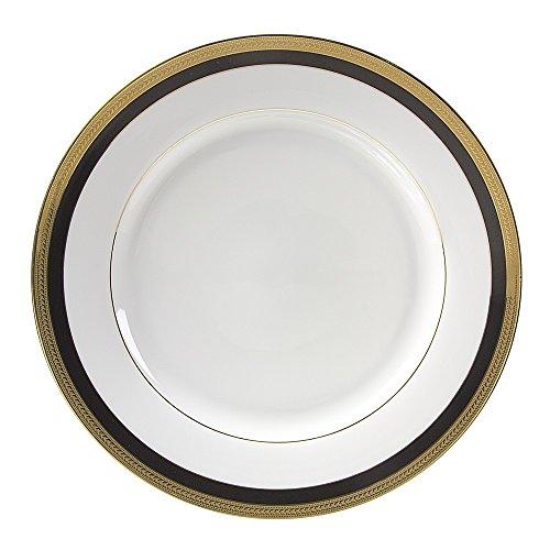 10 Strawberry Street Sahara Black 11875 ChargerBuffet Plate Set of 6 WhiteBlackGold