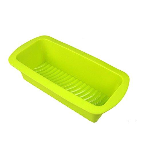 Daixers Silicone BreadLoaf Pan Mold - Non Stick Non Skid Green