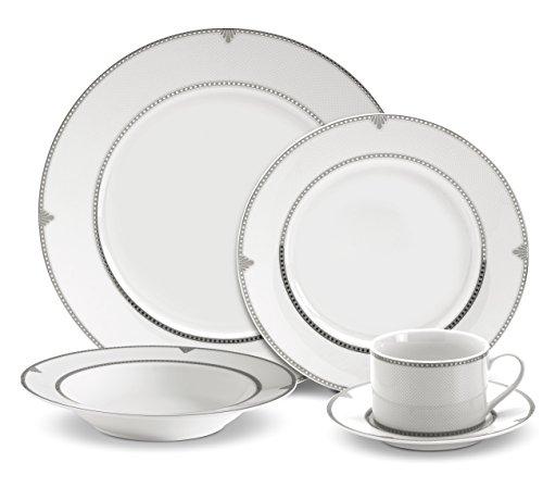 Mikasa Regent Bead 40-Piece Porcelain Dinnerware Set Service for 8