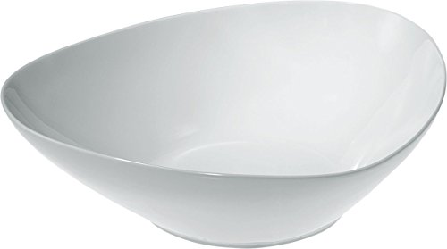 Alessi Colombina 12-14-Inch by 10-34-Inch Salad Bowl White Porcelain