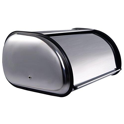 Goplus Stainless Steel Bread Box Storage Bin Keeper Food Container Kitchen New