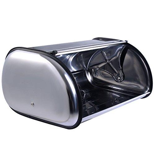 HPD Stainless Steel Bread Box Storage Bin Keeper Food Container Kitchen