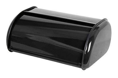 Home Basics Stainless Steel Bread Box Black