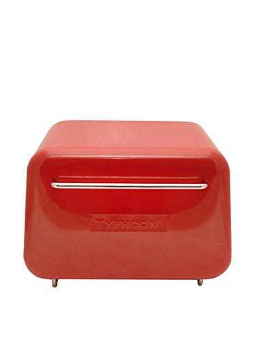 Typhoon Novo Red Steel Bread Box