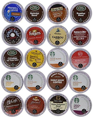20 Count K-Cup 20 Sampler - Ultra Versatile Premium Coffee Variety Pack for Keurig K-Cup Brewers and Keurig 20 Brewers Works On Any K-Cup Brewer