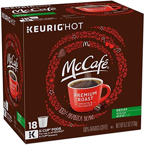 McCafe Premium Decaf Medium Roast Coffee K-Cup Pods 18 Counts