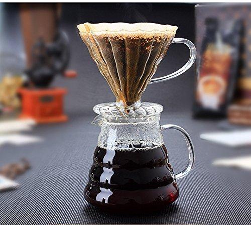 450ML Borosilicate Glass Coffee Maker Pour-Over Heat resistant pot Cone Dripper for Hand Drip Coffee Tea etc self made