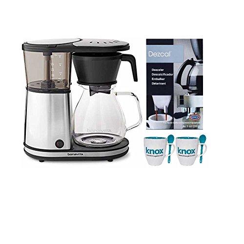 Bonavita BV1901GW 8-Cup Glass Carafe Coffeemaker with Warming Plate  Free Espresso Machine Descaling Powder a