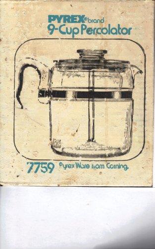 Vintage Pyrex 7759 9-cup Flameware Glass Coffee Maker-percolator