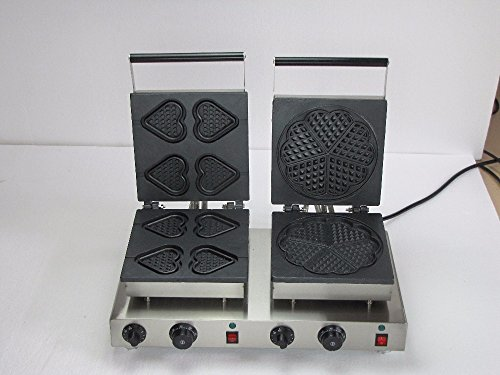 Hanchen Instrument 41pcs NP-557 Commercial Heart Waffle Maker Electric Flower Waffle Machine No-stick Waffle Baker 110V220V Heart and Flower
