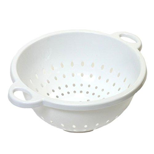Chef Craft, 5-quart, Deep Colander, White, 11 By 5 Inch