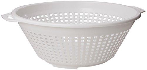 United Solutions Kw0005 Four Quart White Plastic Colander In White -4qt Plastic Pasta Strainer In White