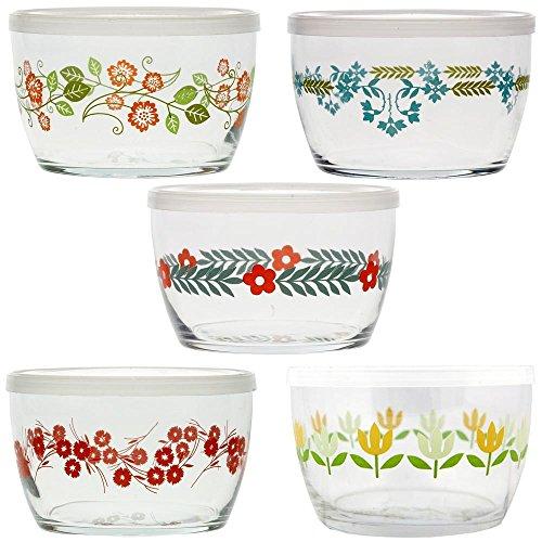 Vintage Flower Storage Bowls Gift Set of 5