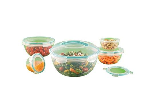 World Kitchen Snapware 10 Piece Airtight Plastic Food Storage Bowl Set