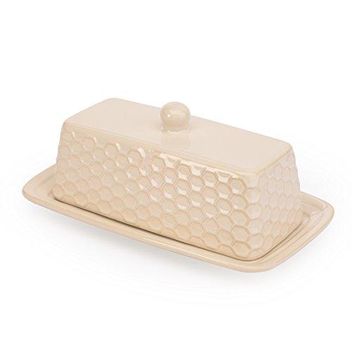 Signature Housewares 4881 Sahara Butter Dish Set of 4 Ivory