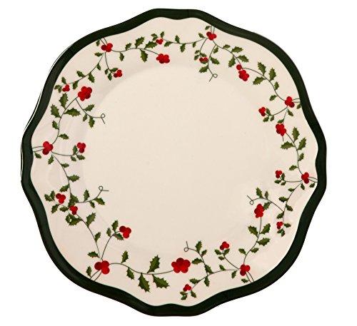 Melange 6-Piece 100 Melamine Dinner Plate Set Holiday Berry Collection   Shatter-Proof and Chip-Resistant Melamine Dinner Plates