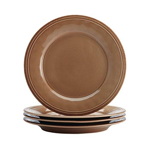 Rachael Ray Cucina 16-Piece Stoneware Dinnerware Set Mushroom Brown