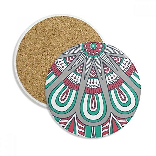 Printing Repeat Cloth Colorful Petal Art Stone Drink Ceramics Coasters for Mug Cup Gift 2pcs