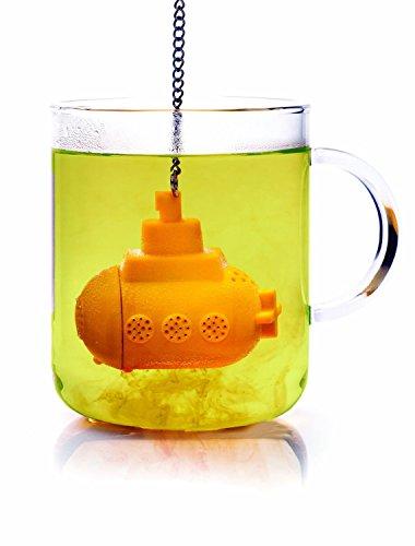 Underwater Tea Infuser Silicone Submarine Pattern Loose Leaf Tea Strainer 2 Yellow