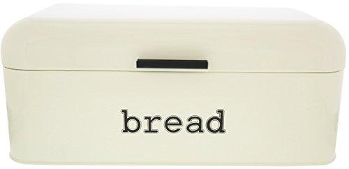Ivory Stainless Steel Vintage Bread Box For Kitchen Storage