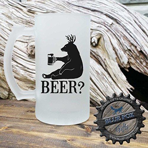 BEER Bear Deer beer mug Frosted Glass beer mug