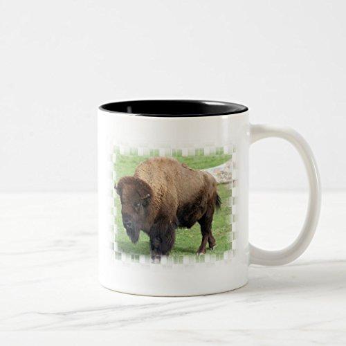 Zazzle North American Bison Frosted Beer Mug Black Two-Tone Mug 11 oz