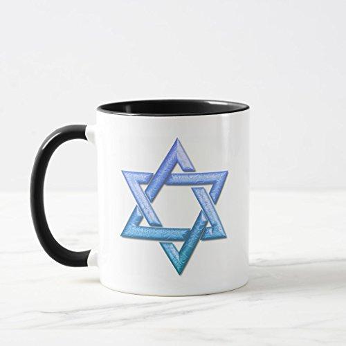 Zazzle Star Of David Frosted Beer Mug Black Combo Mug 11 oz