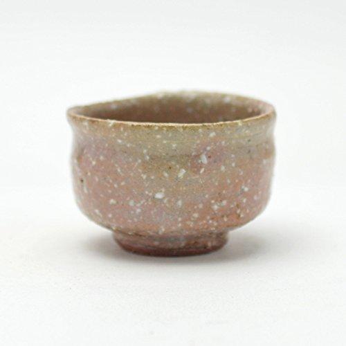 Hagi yaki Japanese ceramic Sake guinomi cup made by Keizan Utagawa