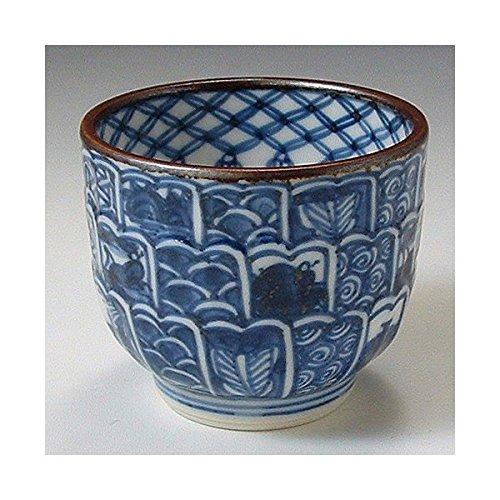 Kiyomizu-kyo yaki ware Japanese Sake guinomi cup Kikuborishonzui with wooden box Porcelain GIX028
