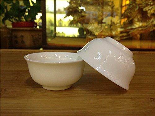 China Gongfu Tea Small Teacups Pure White Set of 850ml