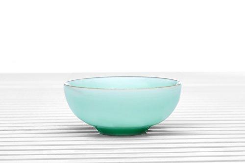 Longquan Celadon Bowl Porcelain Teacup No Handle Small Tea Cups Chinese Teaware celadon green 185 oz 4