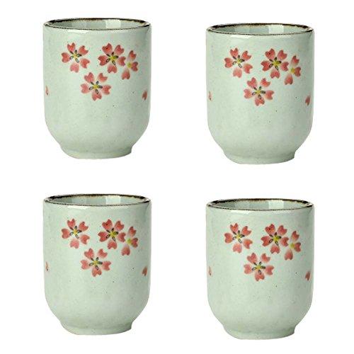 Set of 4 Ceramic Tea Cups Japanese Style Creative Teacups Small Teacups Gift N