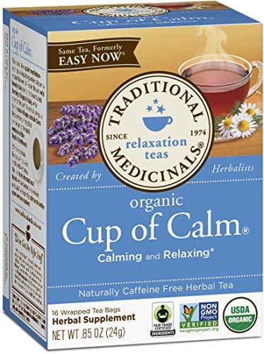 Traditional Medicinals Organic Cup of Calm Tea 16 Tea Bags Pack of 6