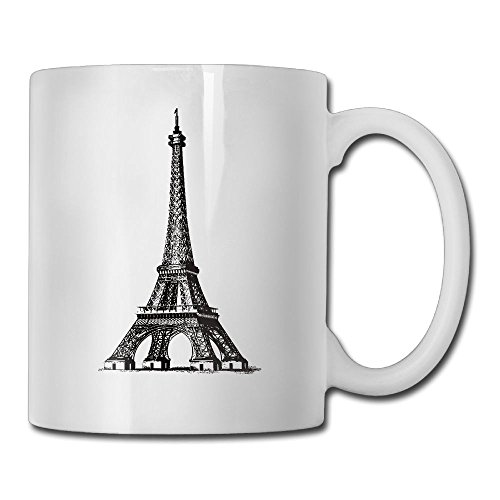 Utility Mug Paris Eiffel Tower Overlaying 4 In 1 Coffee Tea Cup Set Ceramic Lead-free Cup Coffee Mug