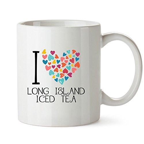 Idakoos - I love Long Island Iced Tea colorful hearts - Drinks - Mug