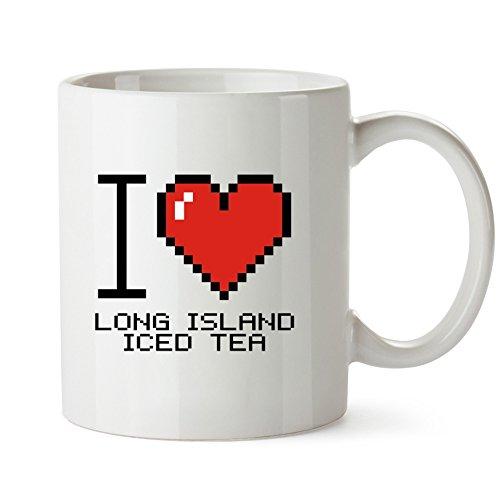 Idakoos - I love Long Island Iced Tea pixelated - Drinks - Mug