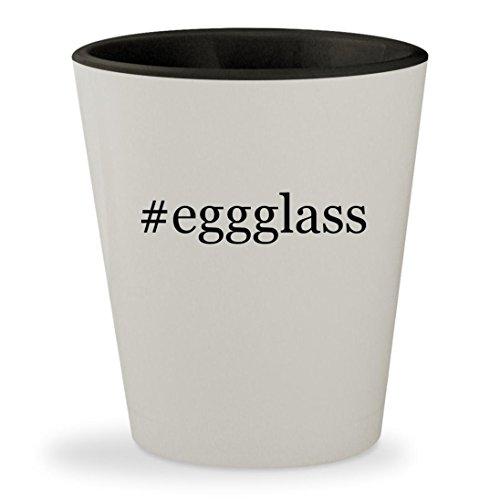 eggglass - Hashtag White Outer Black Inner Ceramic 15oz Shot Glass