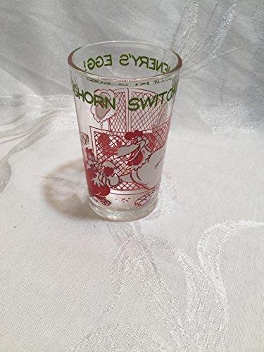 Vintage 1974 Warner Brothers Foghorn Switches Henrys Egg Glass