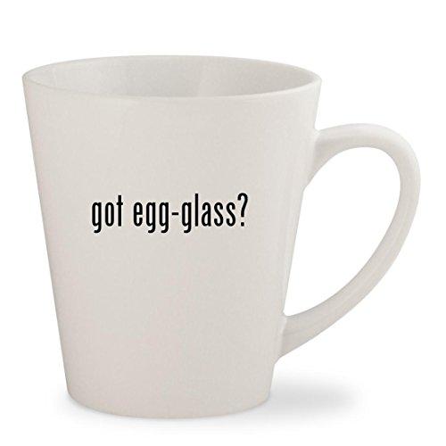 got egg-glass - White 12oz Ceramic Latte Mug Cup
