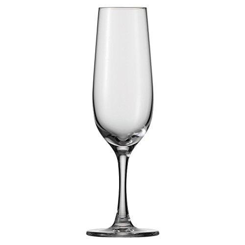 D&V Valore Lead Free Break-Resistant European Crystal Glass Champagne Flute 8 Ounce Set of 6