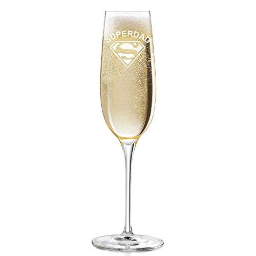 Superdad Engraved 8 oz Champagne Flute - 2pcs set
