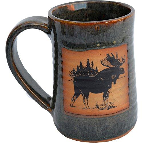 Moose Three 17 Oz Small Tankard in Seamist glaze